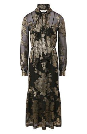 Женское платье-миди SAINT LAURENT черного цвета, арт. 614419/Y7A10 | Фото 1