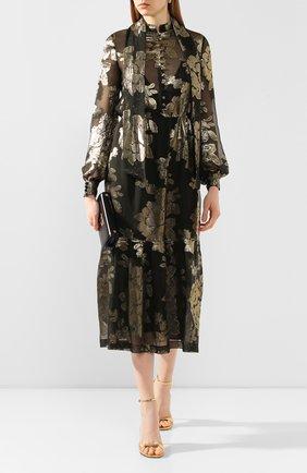 Женское платье-миди SAINT LAURENT черного цвета, арт. 614419/Y7A10 | Фото 2