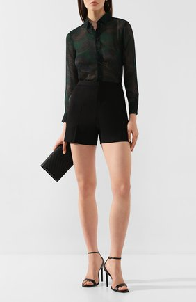 Женская шерстяная рубашка SAINT LAURENT зеленого цвета, арт. 395733/Y7A22 | Фото 2