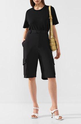 Женские шорты BOTTEGA VENETA черного цвета, арт. 621402/VA5S0 | Фото 2