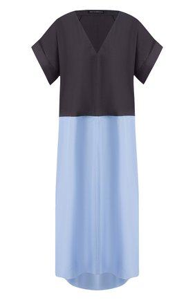 Женское хлопковое платье VIKA GAZINSKAYA синего цвета, арт. SS20-1372 | Фото 1