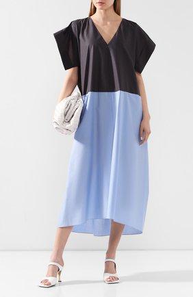 Женское хлопковое платье VIKA GAZINSKAYA синего цвета, арт. SS20-1372 | Фото 2