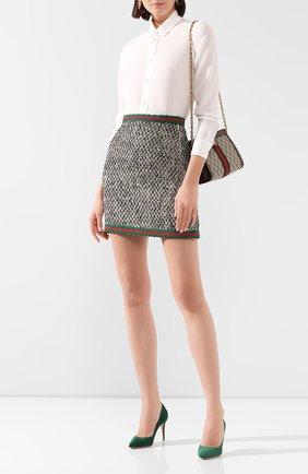 Женская шерстяная юбка GUCCI черно-белого цвета, арт. 610066/ZACCK   Фото 2