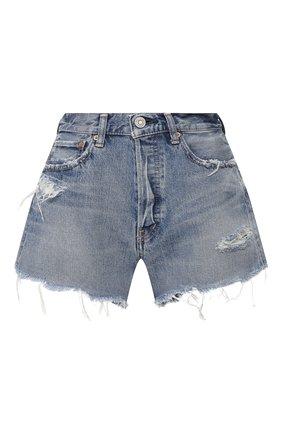 Женские джинсовые шорты MOUSSY голубого цвета, арт. 025DSC11-2290 | Фото 1