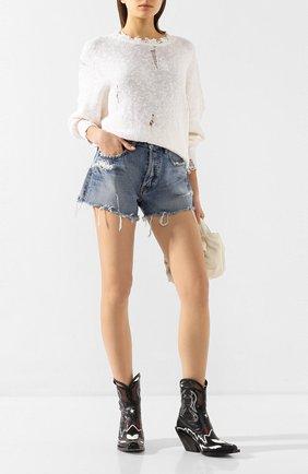 Женские джинсовые шорты MOUSSY голубого цвета, арт. 025DSC11-2290 | Фото 2