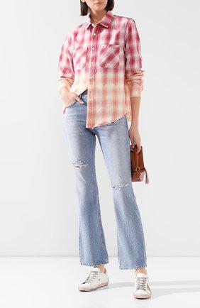 Женская хлопковая рубашка AMIRI разноцветного цвета, арт. Y0W06449PD | Фото 2