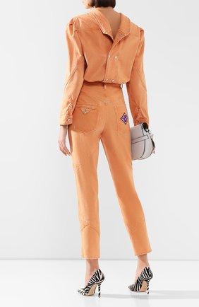 Женская джинсовая рубашка ISABEL MARANT оранжевого цвета, арт. HT1746-20E010I/ESPERA | Фото 2
