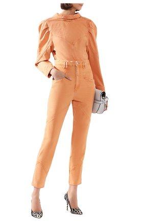 Женские джинсы ISABEL MARANT оранжевого цвета, арт. PA1648-20E010I/EL0ISA | Фото 2