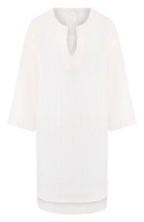 Женская льняная туника 120% LINO белого цвета, арт. R1W40HM/F822/H00   Фото 1