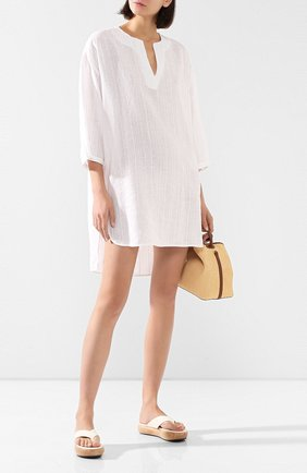 Женская льняная туника 120% LINO белого цвета, арт. R1W40HM/F822/H00   Фото 2