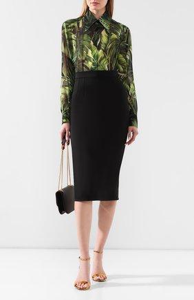 Женская юбка DOLCE & GABBANA черного цвета, арт. F4BU0T/FURJL | Фото 2