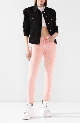 Женские джинсы STELLA MCCARTNEY розового цвета, арт. 372773/SNH80 | Фото 2