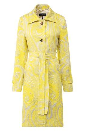 Женское пальто с поясом ESCADA желтого цвета, арт. 5033271 | Фото 1