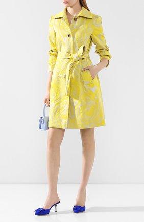 Женское пальто с поясом ESCADA желтого цвета, арт. 5033271 | Фото 2