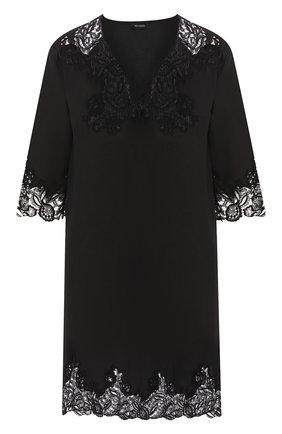 Женские льняное платье DANA PISARRA черного цвета, арт. AMALFI/2056 | Фото 1