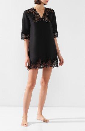 Женские льняное платье DANA PISARRA черного цвета, арт. AMALFI/2056 | Фото 2