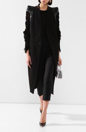 Женское пальто из смеси шерсти и вискозы RICK OWENS черного цвета, арт. R020S1953/WEHDLQ   Фото 2