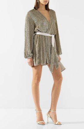 Женское платье из вискозы RETROFÊTE светло-бежевого цвета, арт. HL18-2013   Фото 2