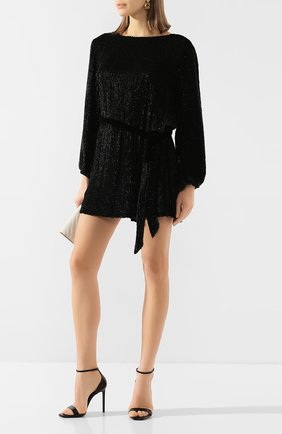 Женское платье из вискозы RETROFÊTE черного цвета, арт. HL18-2040   Фото 2