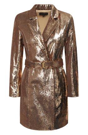 Женское платье с пайетками RETROFÊTE золотого цвета, арт. HL20-2426   Фото 1