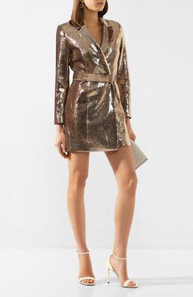 Женское платье с пайетками RETROFÊTE золотого цвета, арт. HL20-2426   Фото 2