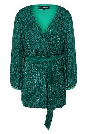 Женское платье из вискозы RETROFÊTE зеленого цвета, арт. HL20-2460   Фото 1