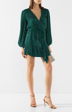Женское платье из вискозы RETROFÊTE зеленого цвета, арт. HL20-2460   Фото 2