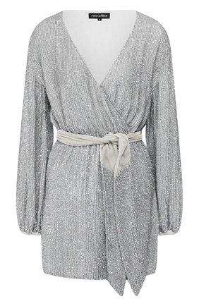 Женское платье из вискозы RETROFÊTE серебряного цвета, арт. HL20-2460   Фото 1