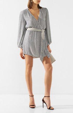 Женское платье из вискозы RETROFÊTE серебряного цвета, арт. HL20-2460   Фото 2
