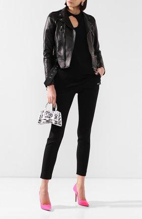 Женская кожаная куртка OFF-WHITE черного цвета, арт. 0WJG002S20LEA0011020 | Фото 2