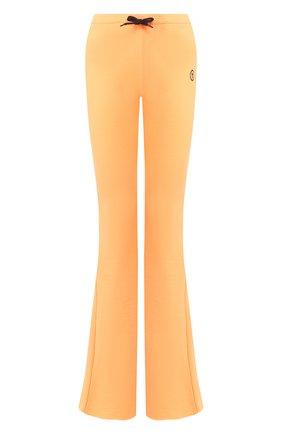 Женские хлопковые брюки FILLES A PAPA оранжевого цвета, арт. DAN L FLEECE/NE0N   Фото 1