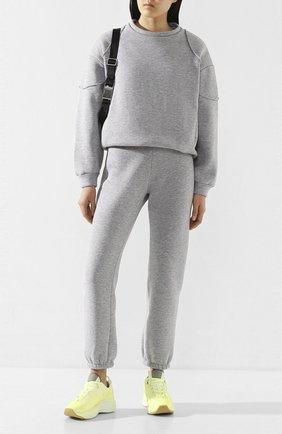 Женская хлопковый свитшот PEFORGIRLS серого цвета, арт. PE.100.2022.01.23201.001 | Фото 2
