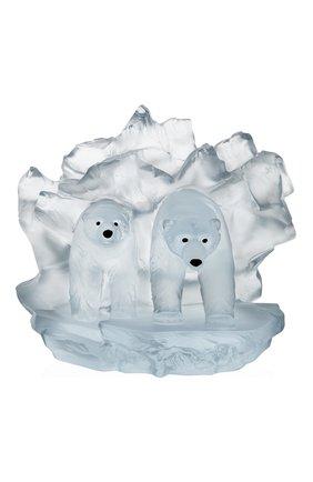 Мужская скульптура полярные медведи arktos DAUM прозрачного цвета, арт. 05681 | Фото 1