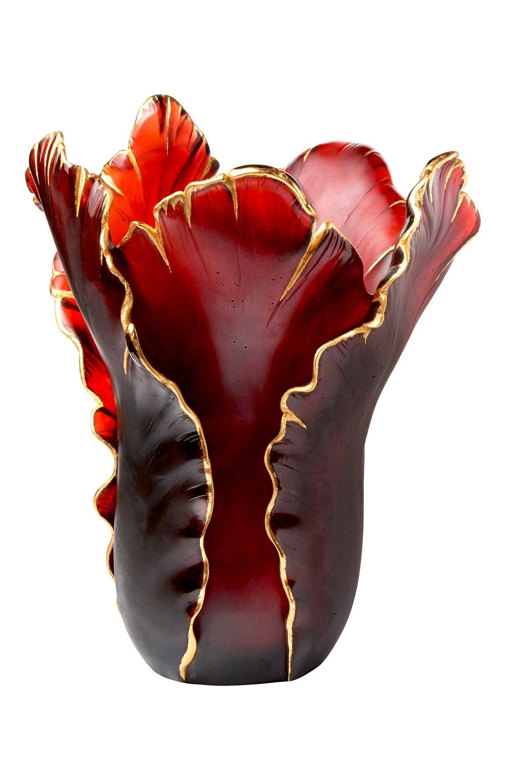 Мужская ваза тюльпан DAUM бордового цвета, арт. 03375-9 | Фото 1