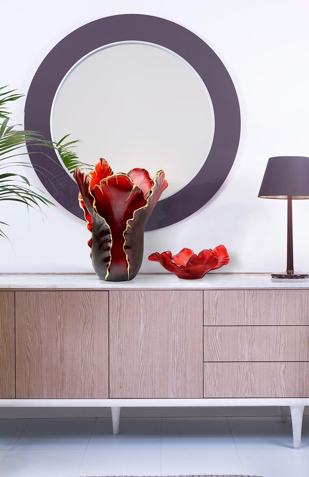 Мужская ваза тюльпан DAUM бордового цвета, арт. 03375-9 | Фото 2