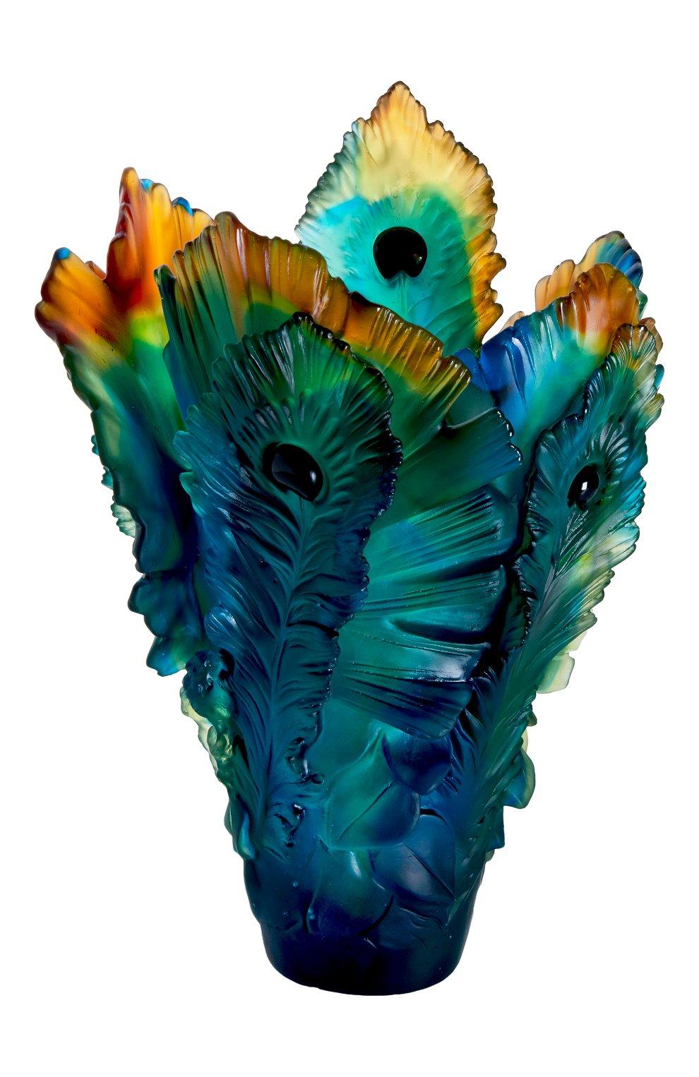Мужская ваза fleur de paon big DAUM разноцветного цвета, арт. 05692 | Фото 1