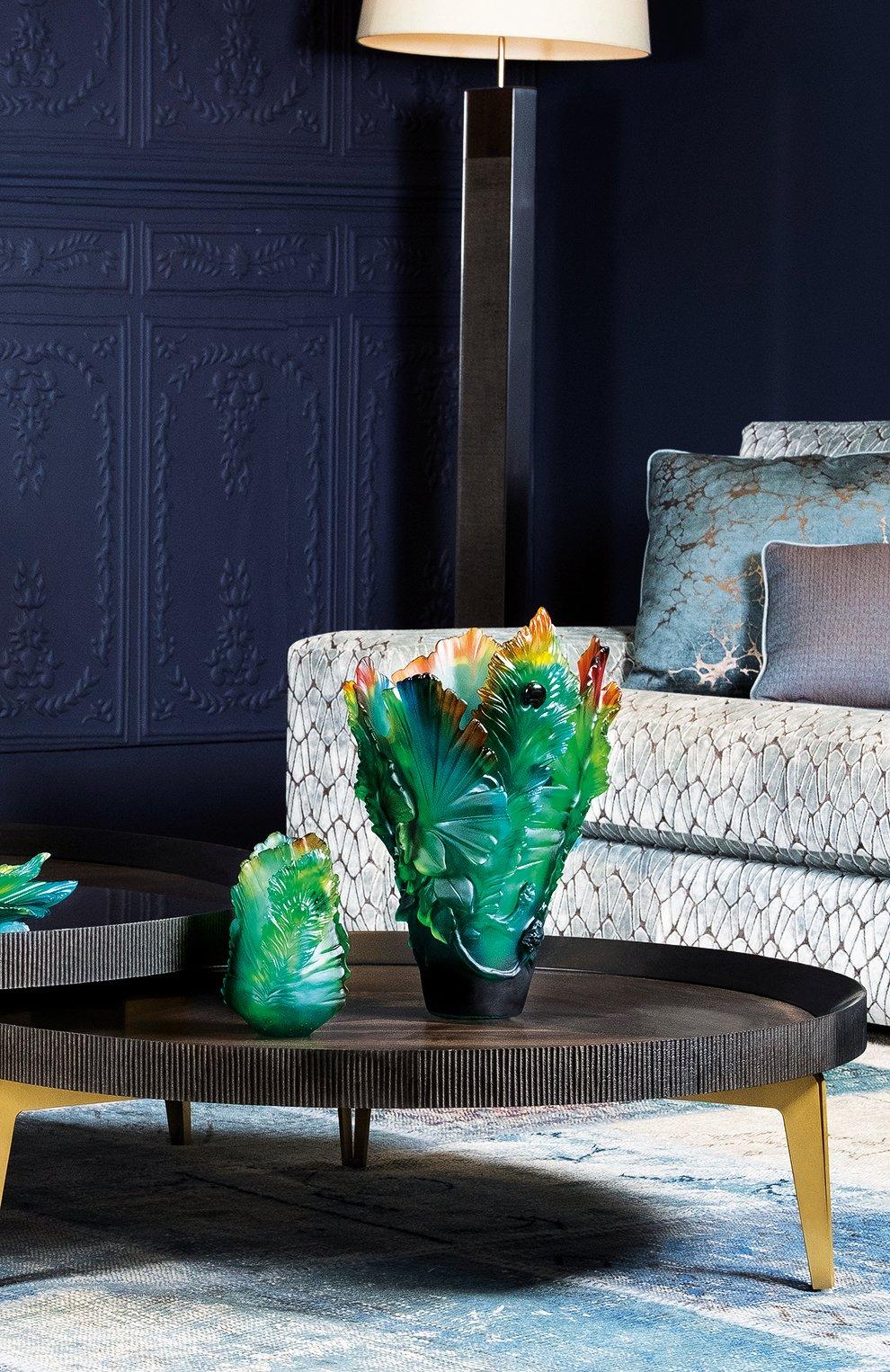 Мужская ваза fleur de paon big DAUM разноцветного цвета, арт. 05692 | Фото 3