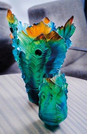 Мужского ваза fleur de paon small DAUM разноцветного цвета, арт. 05694 | Фото 2