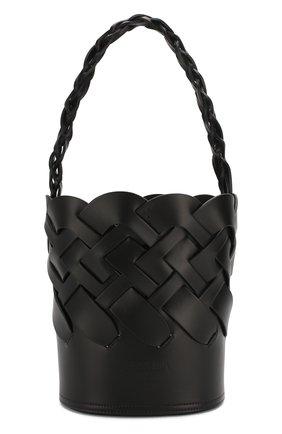 Женская cумка bucket PRADA черного цвета, арт. 1BE049-2DI4-F0002-OOO | Фото 1