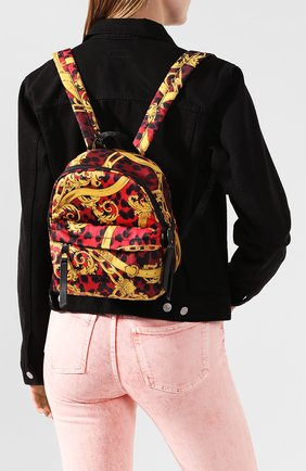 Женский рюкзак VERSACE JEANS COUTURE разноцветного цвета, арт. E1VVBBP2-LINEA P DIS. 2/71416 | Фото 2