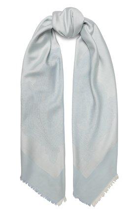 Женская шаль capri из смеси шелка и хлопка BALMUIR голубого цвета, арт. 3107000 | Фото 1