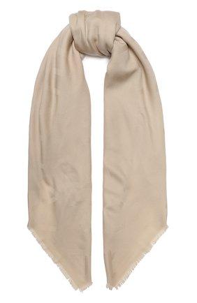 Женская шерстяная шаль chantal BALMUIR бежевого цвета, арт. 176100 | Фото 1