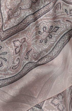 Женский шелковый платок como BALMUIR розового цвета, арт. 178000 | Фото 2