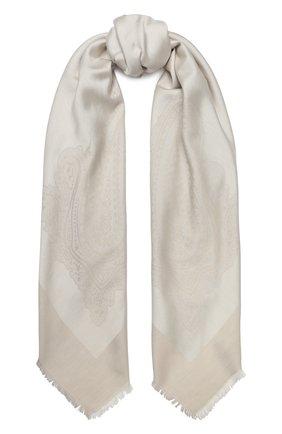 Женская шаль capri из смеси шелка и хлопка BALMUIR бежевого цвета, арт. 3107000 | Фото 1