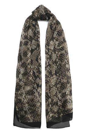 Мужские шелковый шарф fiona BALMUIR бежевого цвета, арт. 178351 | Фото 1