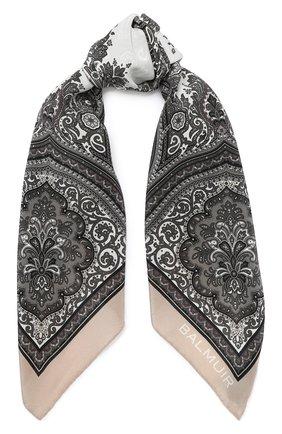 Женский шелковый платок verona BALMUIR бежевого цвета, арт. 178300 | Фото 1