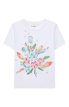 Детская хлопковая футболка EIRENE разноцветного цвета, арт. 202020. | Фото 1