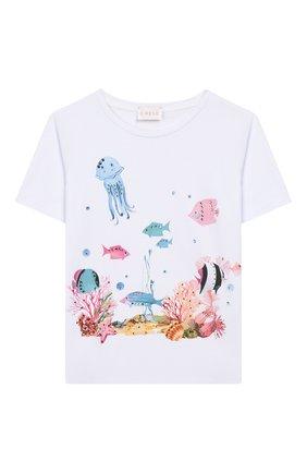 Детская хлопковая футболка EIRENE разноцветного цвета, арт. 2020104. | Фото 1