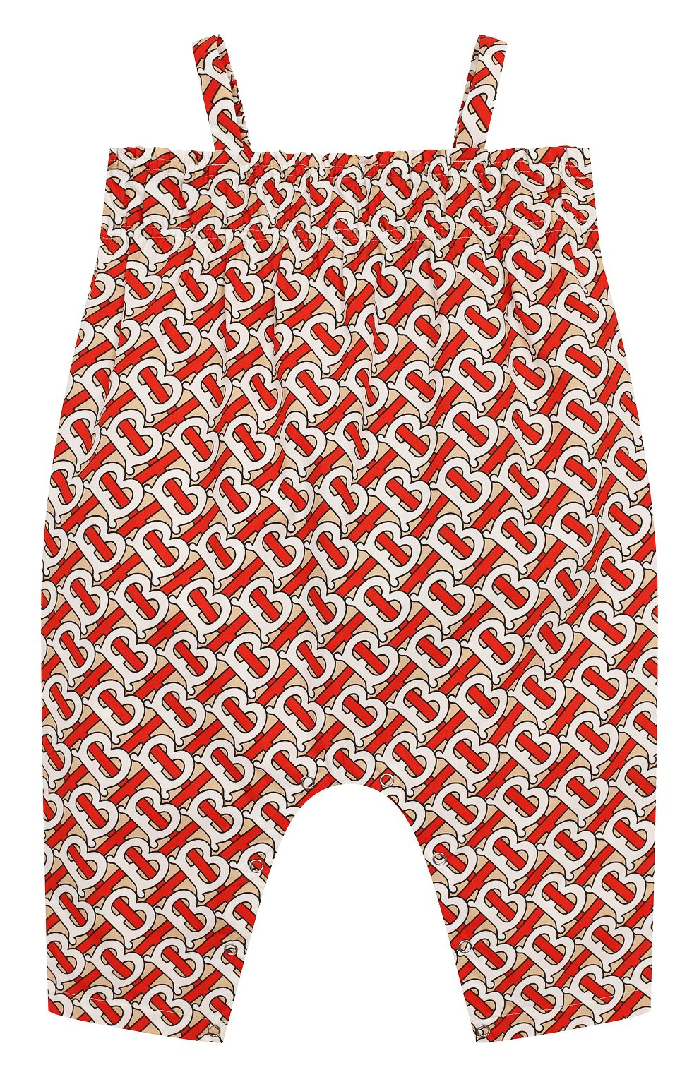 Детский хлопковый комбинезон BURBERRY разноцветного цвета, арт. 8026352   Фото 1