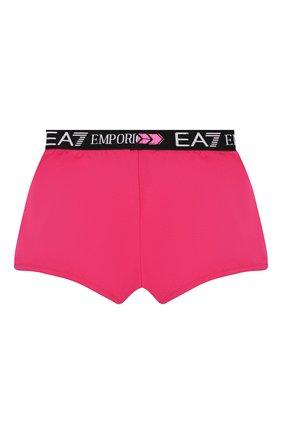 Детские хлопковые шорты EA 7 фуксия цвета, арт. 3HFS54/FJT2Z | Фото 2